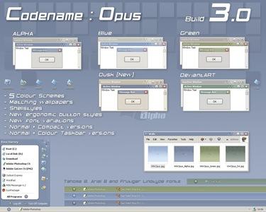 Codename__Opus_3_0,windows style xp theme download,xp佈景主題vista,visual styles,xp佈景主題教學下載,桌面改造,桌面美化,破解xp佈景主題限制