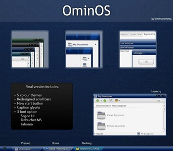 OminOS_Final,windows style xp theme  download,visual styles,xp佈景主題vista教學下載