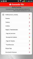 Screenshot of Santander Río