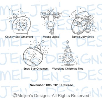 Meljens Designs November 18th Release Display