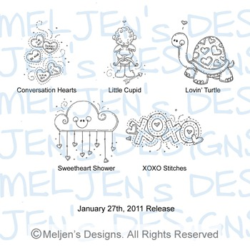 Meljens Designs January 27th Release Display