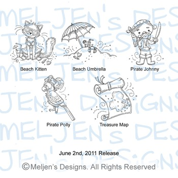 Meljens Designs June 2nd Release Display