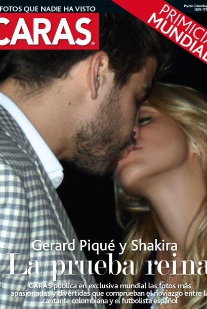 shakira y gerard pique besandose