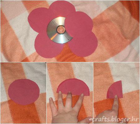 cvijet od tkanine
