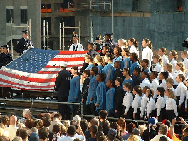 2003年紐約911二周年紀念現場