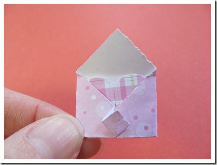 Tiny envelope open.