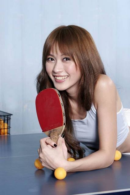 Chinese Beauty Girl Let S Play Table Tennis With Chinese