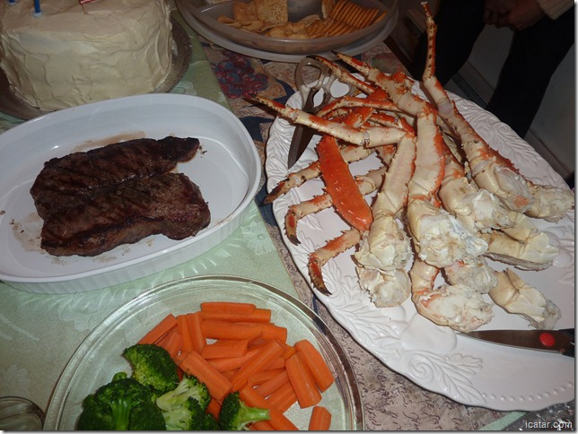 Yummmm!  Steak and king crab!