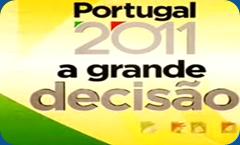 Logotipo do programa Portugal 2011-a grande decisão-SIC