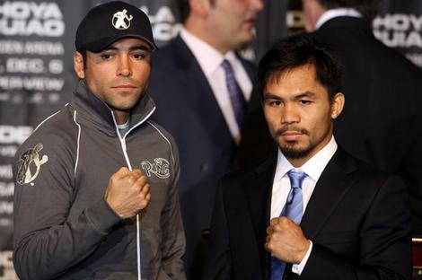oscar de la hoya and manny pacquaio