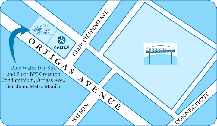 blue water day spa ortigas avenue map