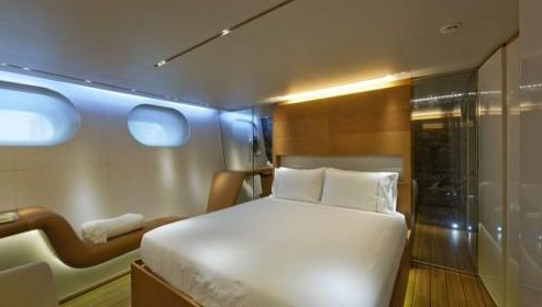 Luxury interior yacht