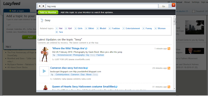 Lazyfeed.com screenshot (click to see enlarged image)
