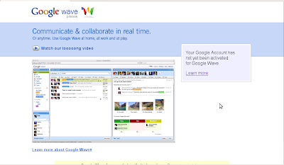 Google wave account - no access