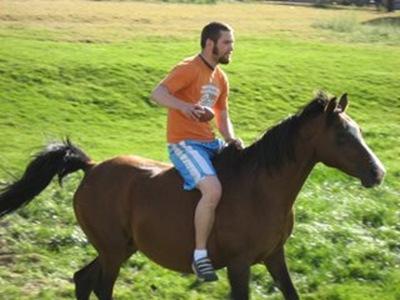 wyatt on horse
