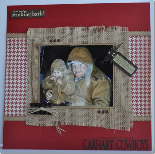 CARHART COWBOYS 12X12 SCRAPBOOKING PAGE 3