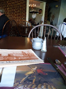 Lunch at Mt Vernon Inn, colonial food, Virginia