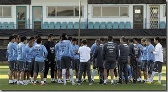 seleccion uruguaya entrenamiento 2010