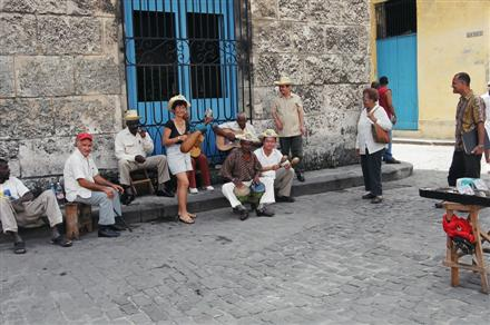 Jon and the Cuban band