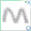 Christmas tree silver tinsel