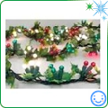 Christmas tree lighted garland