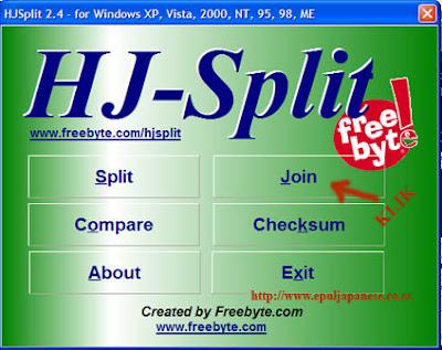 Menggabungkan File Hasil Pecahan HJSplit