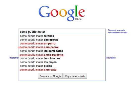 Búsquedas raras en Google 6