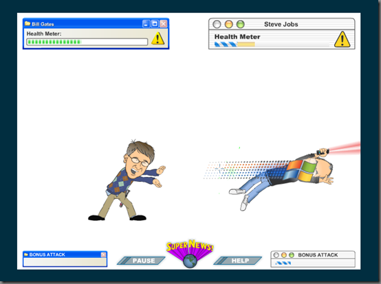 Bill Gates vs Steve Jobs juego Flash