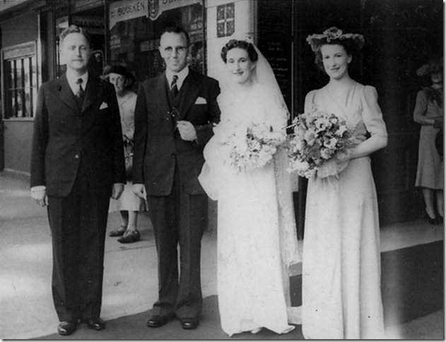 James and Edna's marriage 1944