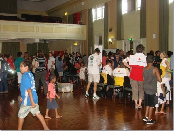 Moree evacuation centre Jan 2010