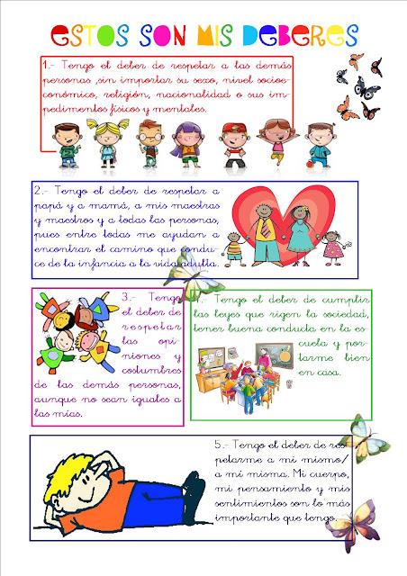 Figuras de los deberes de los niños - Imagui