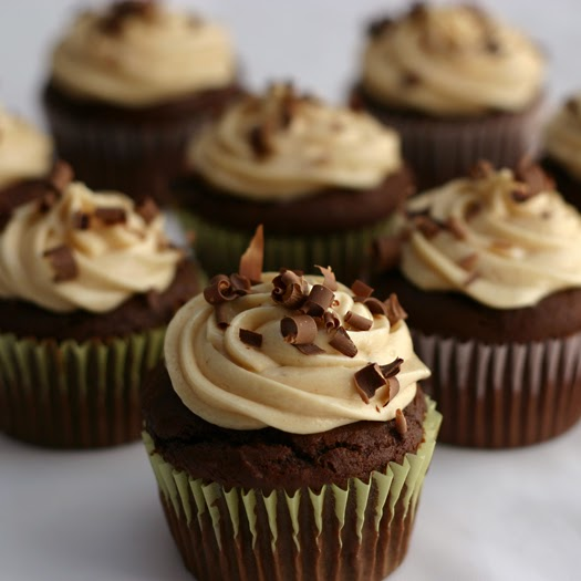 Caution: Chocolate Peanut Butter Cupcakes with Whipped Peanut Butter ...