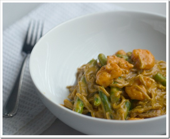 Curry Shrimp with Green Beans and Soba Noodles