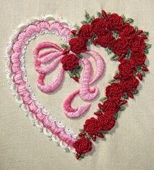 Ribbon & Roses Heart Original Design by Sherry Johnson