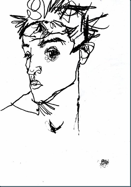 Schiele - Selbstbildnis - 1913
