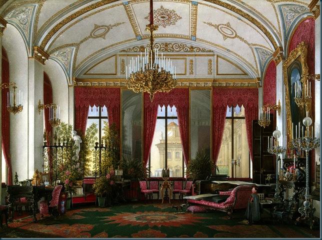 Interiores del Palacio de Invierno. Habitación de la emperatriz María Alexandrovna
