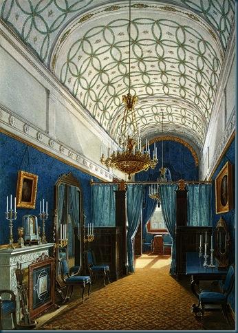 Los interiores del Palacio de Invierno. Vestidor de la emperatriz Alejandra Feodorovna