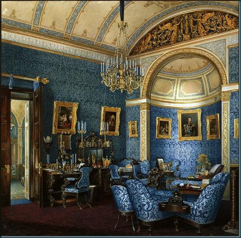 Los interiores del Palacio de Invierno. Boudoir Gran Duquesa María Alexandrovna