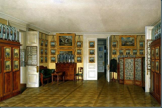 Los interiores del Palacio de Invierno. Kamerdinerskaya emperador Alejandro II