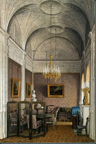 Los interiores del Palacio de Invierno. El Boudoir de emperatriz Alejandra Feodorovna