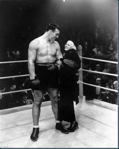 Primo Carnera and actress Jean Harlow.