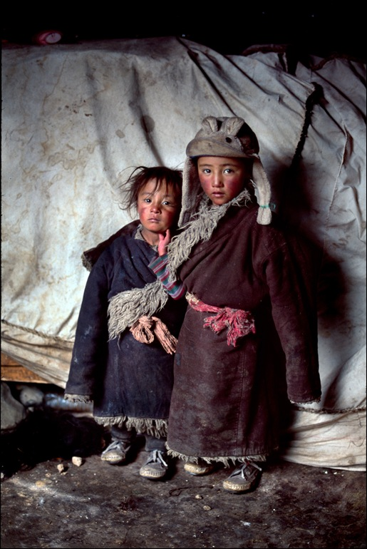 Nomad Children in Tent, Amdo, Tibet, 2001