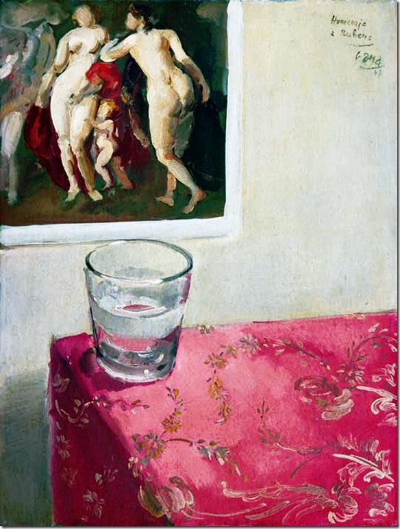 HOMENAJE A RUBENS, 1947. Óleo sobre tabla. 40 x 30 cm