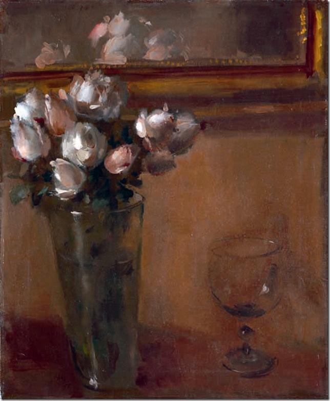 FLORERO CON COPA, 1955. Óleo sobre lienzo. 55 x 45.5 cm