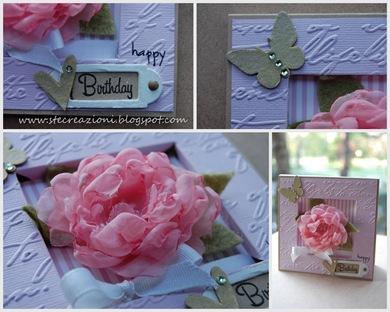 card con rosa