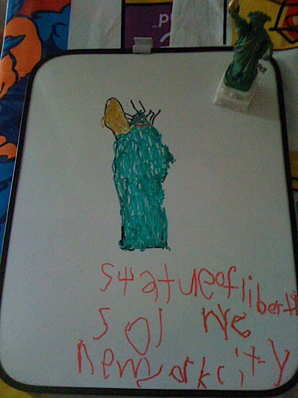 Cameron 's drawing of the Statue of Liberty