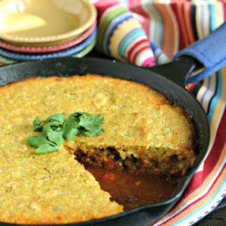 Skillet Chili Pie with Cornbread Topping