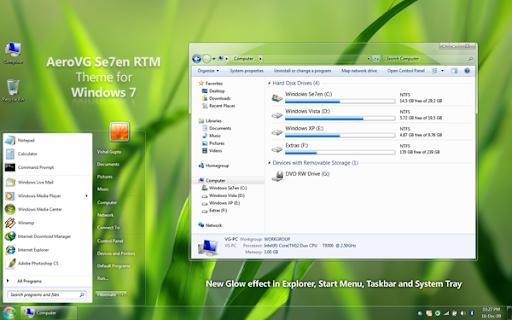 AeroVG Se7en for Windows 7 themes