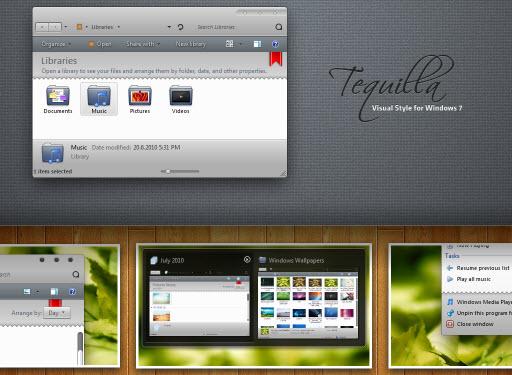 Tequilla : Dark Theme for Windows 7