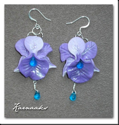 fimo-orchid-earrings